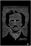 Edgar Allan Poe The Raven Text Poster - Poster