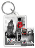 London - Collage Acrylic Keychain Keychain