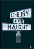 Haight and Ashbury Song Titles Text Poster Pósters