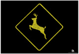 National Parks Deer Crossing Text Poster Prints