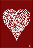 Heart Poker Hands Text Poster Posters