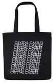 Crystal Castles - Repeat Logo Tote Sacs cabas
