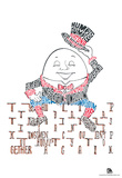 Humpty Dumpty Text Poster Prints