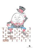 Humpty Dumpty Text Poster Prints