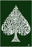 Spade Poker Hands Text Poster Plakát
