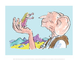 The BFG and Sophie Posters af Quentin Blake
