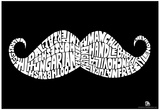 Facial Hair Types Text Poster Posters