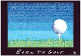 Born to Golf Text Poster Poster