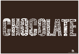 Chocolate Lover Text Poster Prints