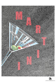 Martini Drinks Text Poster Poster