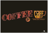 Coffee Sign Text Poster Prints