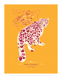 WWF Snow Leopard - Animal Tails Art by Annette D'Oyly