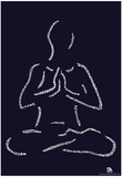 Yoga Poses Text Poster Posters