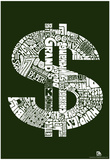 Money Slang Text Poster Prints