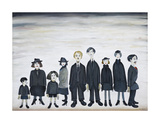 The Funeral Party, 1953 Premium Giclee Print by Laurence Stephen Lowry