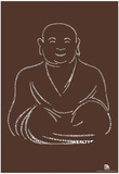 Buddha Text Poster Prints