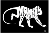 Monkey Business Text Poster Posters