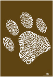 Dog Training Pawprint Text Poster Prints