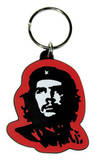 Che Guevara - Red Rubber Keychain Keychain