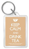Keep Calm And Drink Tea Acrylic Keychain Keychain