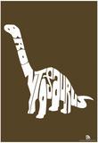 Brontosaurus Text Poster Print
