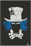 Mad Hatter Quote Text Poster Plakater