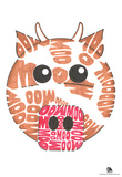 Cow Moo Text Poster Posters