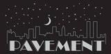 Pavement - Night Falls Sticker Klistremerker