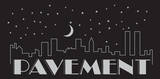 Pavement - Night Falls Sticker Stickers