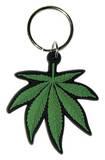 Cannabis Leaf Rubber Keychain Keychain