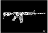 Second Amendment Text Poster Plakát