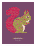 WWF Red Squirrel - Animal Tails Posters by Annette D'Oyly