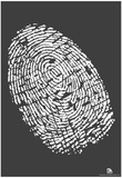 Who Are You Fingerprint Text Poster Print