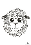 Sheep Baa Text Poster Prints