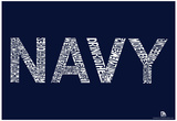 Navy Anchors Aweigh Lyrics Poster Photo