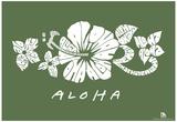 Aloha Text Poster Poster
