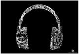 Headphones Music Languages Text Poster Billeder