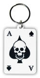 Ace Of Spades Rubber Keychain Keychain