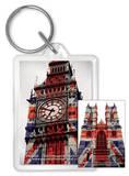 London - Big Ben Union Jack Acrylic Keychain Keychain