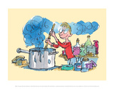 Quentin Blake - Georges Marvellous Medicine - Poster