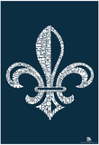 Fleur de Lis Saints Go Marching In Lyrics Poster Prints