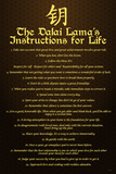 Dalai Lama (Instructions For Life) Prints