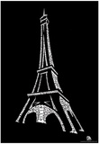 France Cities Eiffel Tower Text Poster Prints