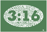 John 3:16 Text Poster Posters