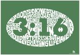 John 3:16 Text Poster Plakát