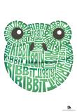 Frog Ribbit Text Poster Photo