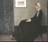 Arrangement In Grey and Black, No.1: Portrait Of The Artist's Mother Stretched Canvas Print by James Abbott McNeill Whistler