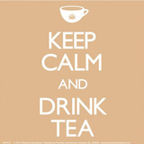 Keep Calm And Drink Tea Vinyl Sticker Stickers