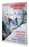 Chamonix - Mont-Blanc Panneau en bois