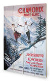 Chamonix Mont-Blanc Wood Sign Cartel de madera